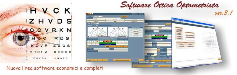 software negozio ottica ottico optometrista ottici