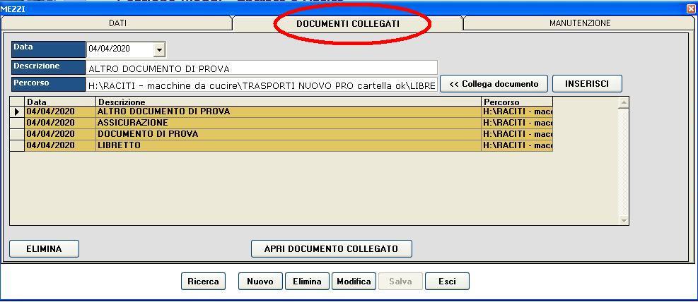 gestione parco auto -DOC COLLEGATI