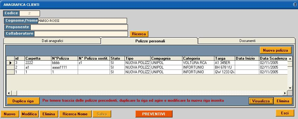 elenco pratica software gestionale assicurativo