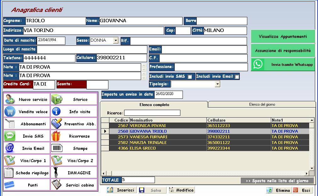 Software centro estetico
