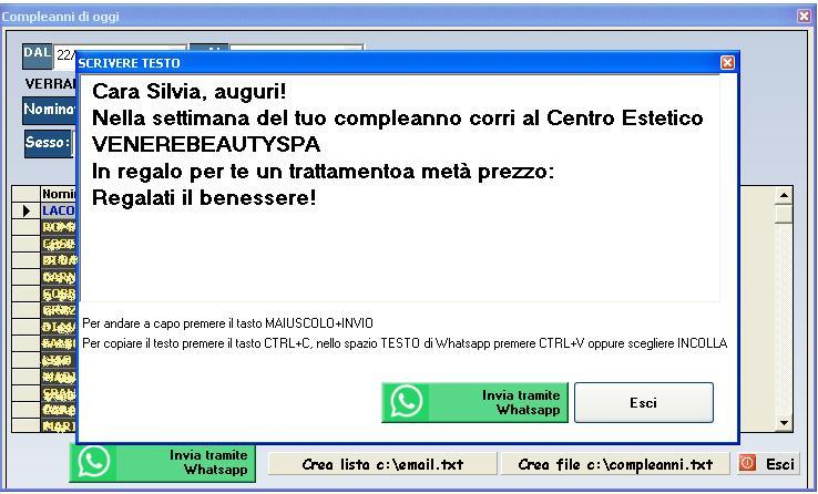 software centro estetico whatsapp