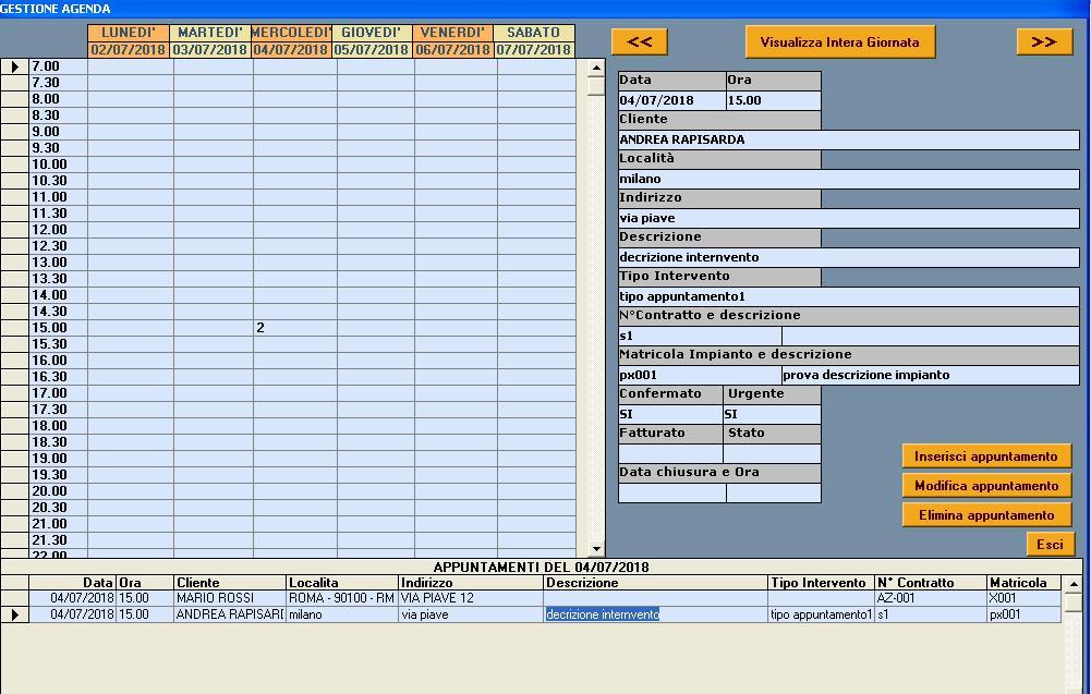 agenda gestione assistenza tecnica