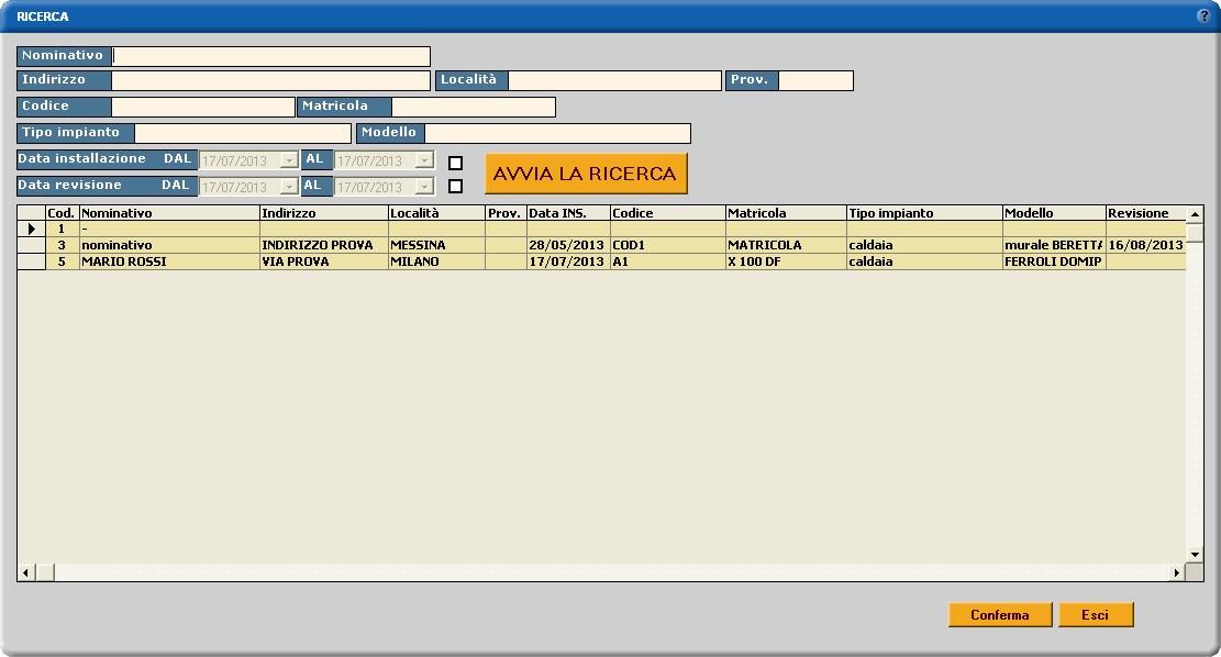 software manutenzione impianti termici