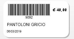 etichetta software mercatino dell'usato