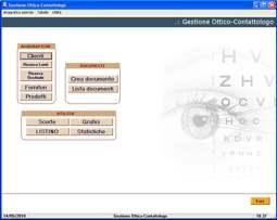 software negozio ottica