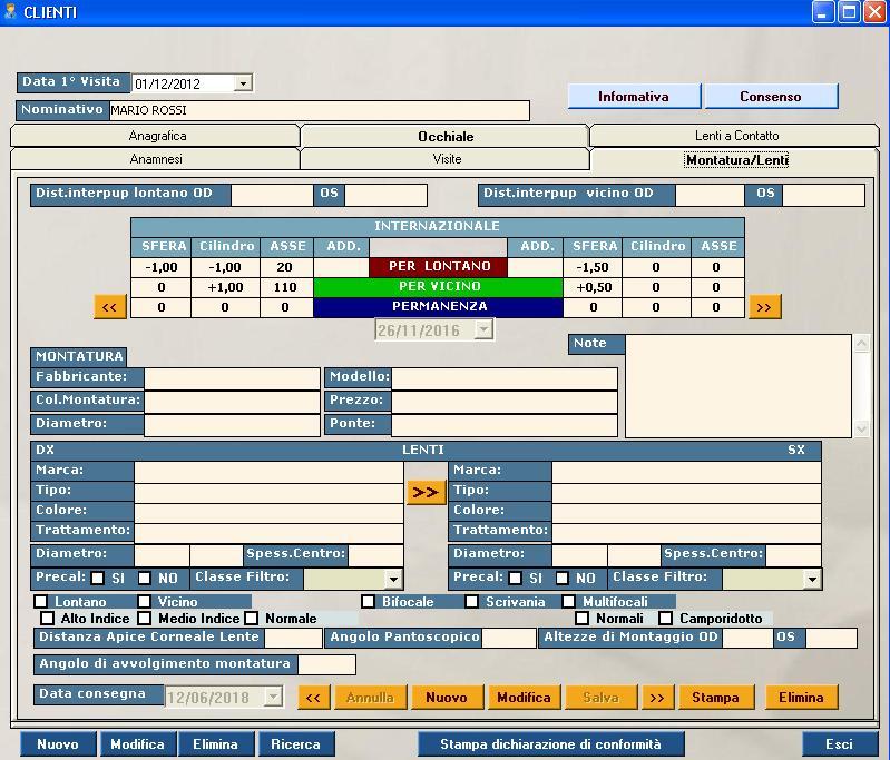 software negozio ottici