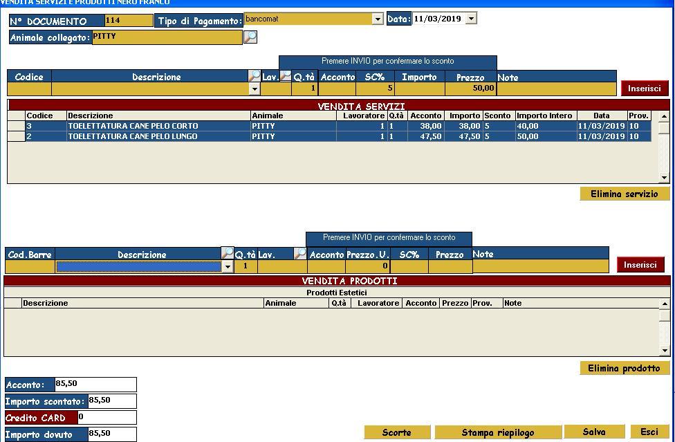 software toelettatura toelettatori vendita servizi animali