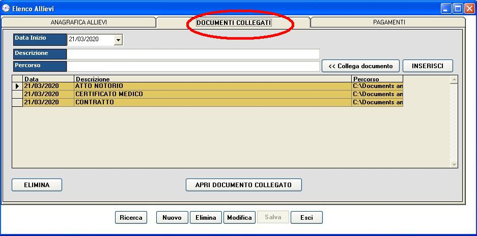 software autoscuola documenti