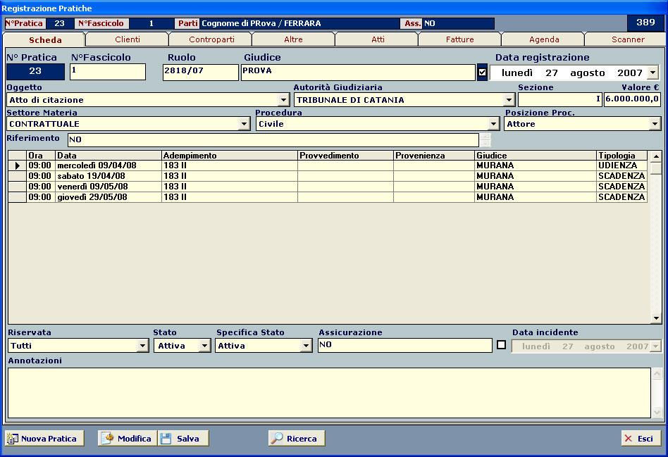 software studio legale
