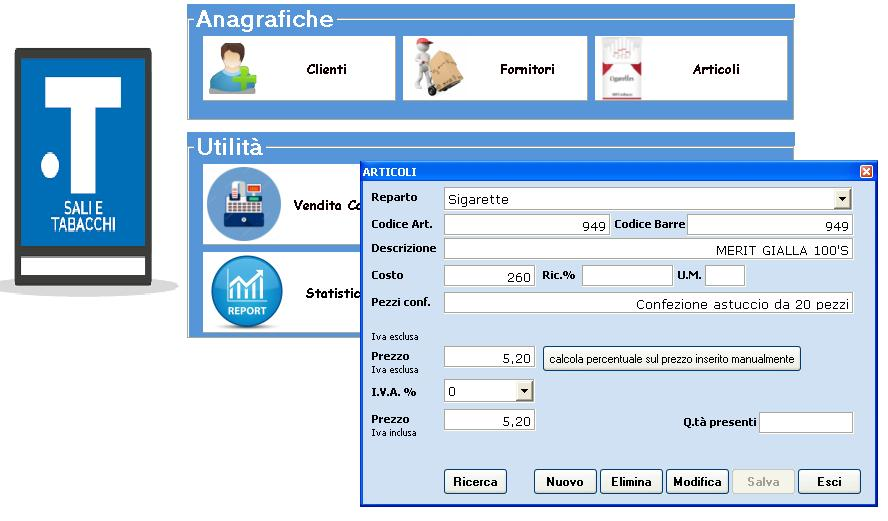 articoli software gestionale tabaccherie