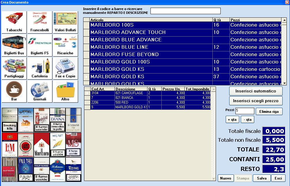 Software Gestionale Tabaccheria Tabaccherie