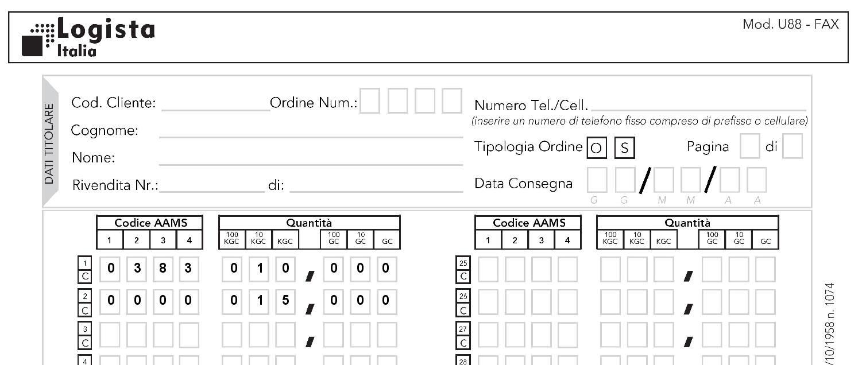 software tabaccheria u88 fax u88fax