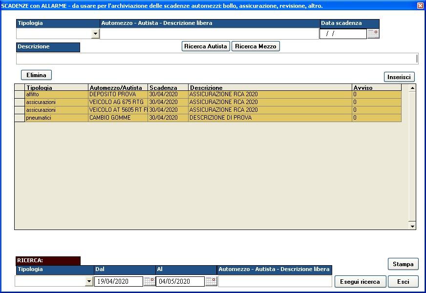 scadenze software gestione _trasporti